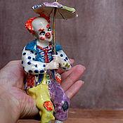 Для дома и интерьера handmade. Livemaster - original item Clown with umbrella.The statuette on the shelf.. Handmade.