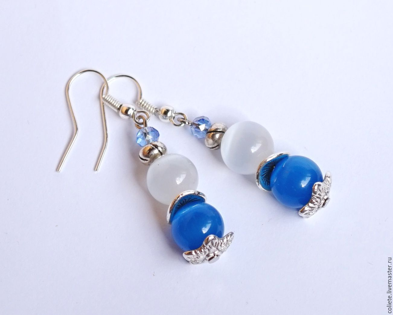 Earrings Handmade Livemaster From Natural Stones Hy Case
