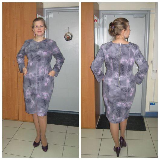 Платья ручной работы. Ярмарка Мастеров - ручная работа. Купить Джинсовое платье-футляр. Handmade. Платье, Джинсовая ткань