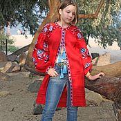 Одежда ручной работы. Ярмарка Мастеров - ручная работа Вышитая туника, кардиган. Вышиванка. Handmade.