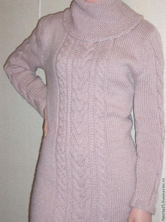 Платья ручной работы. Ярмарка Мастеров - ручная работа. Купить Платье. Handmade. Розовый, шерсть 50% акрил 50%