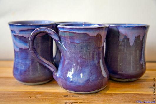 Кружки и чашки ручной работы. Ярмарка Мастеров - ручная работа. Купить Фиолетовая. Handmade. Тёмно-фиолетовый, кружка