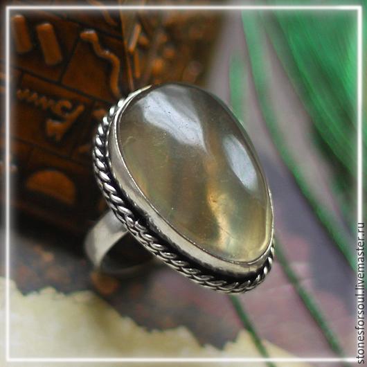 """Кольца ручной работы. Ярмарка Мастеров - ручная работа. Купить кольцо в серебре 925 пр. """"Дымка"""". Handmade. Коричневый, кольцо"""