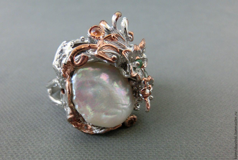 Кольца с барочным жемчугом