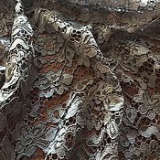 Lace handmade. Livemaster - original item Cord lace with festoons grey Italy. Handmade.