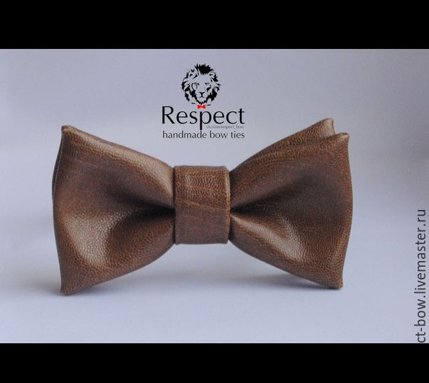 Tie Sepultura / leather light brown bow tie, Ties, Moscow,  Фото №1