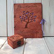 Свадебный салон handmade. Livemaster - original item Set No. 7. Folder for the marriage certificate box for rings. Handmade.