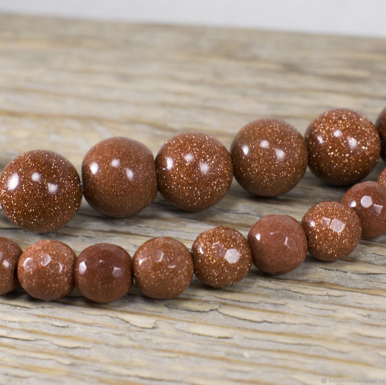 Авантюрин коричневый, бусины – купить на Ярмарке Мастеров – FC3ARRU | Бусины, Анапа
