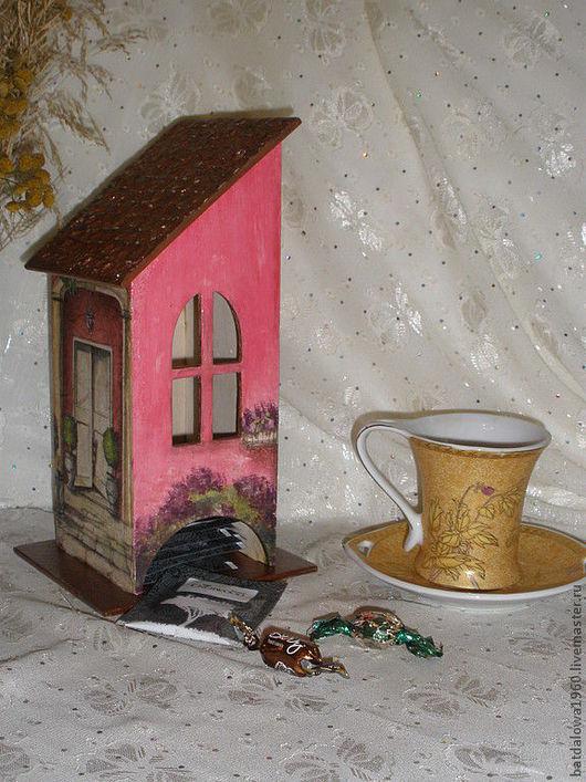 """Кухня ручной работы. Ярмарка Мастеров - ручная работа. Купить Чайный домик """"Розовые мечты"""". Handmade. Чайный домик декупаж"""