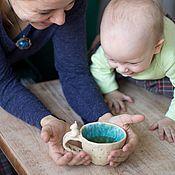 Посуда ручной работы. Ярмарка Мастеров - ручная работа Кружка с Котиком керамика. Handmade.