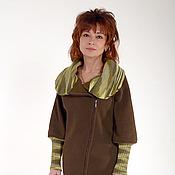"""Одежда ручной работы. Ярмарка Мастеров - ручная работа Жакет-толстовка """"Осенняя прогулка"""". Handmade."""