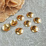 Материалы для творчества handmade. Livemaster - original item Bead caps 6 mm Silver 925 hallmark in gold (Ref. 2774). Handmade.