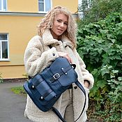 Сумки и аксессуары handmade. Livemaster - original item Backpack female leather blue Virgi Mod R11-161. Handmade.