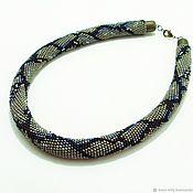 Украшения handmade. Livemaster - original item Harness beaded Reticulated Python. Handmade.