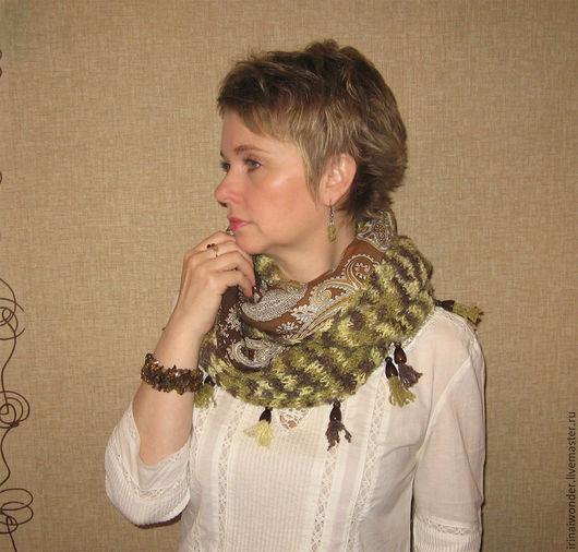 """Шарфы и шарфики ручной работы. Ярмарка Мастеров - ручная работа. Купить Бохо-шарф """"Адель"""". Handmade. Бохо, шарф-труба"""
