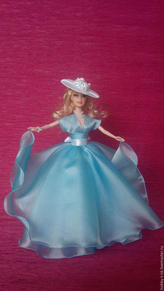Персональные подарки ручной работы. Ярмарка Мастеров - ручная работа. Купить Кукла-шкатулка в Голубом платье. Handmade. Голубой