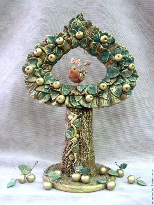 """Статуэтки ручной работы. Ярмарка Мастеров - ручная работа. Купить Дерево """" Яблоня"""". Handmade. Дерево счастья, птичка на ветке"""