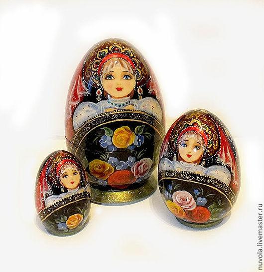 Матрешки ручной работы. Ярмарка Мастеров - ручная работа. Купить Матрешка-яйцо 3-х местная с пейзажем. Handmade. Матрешка