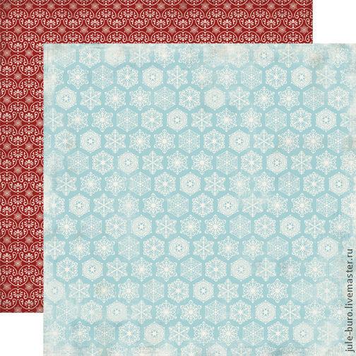 Открытки и скрапбукинг ручной работы. Ярмарка Мастеров - ручная работа. Купить Двусторониий лист бумаги для скрапбукинга 30х30 Classic Snowflake. Handmade.