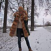 Одежда ручной работы. Ярмарка Мастеров - ручная работа Куртка-парка с лисой огневкой. Handmade.