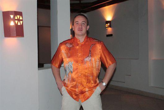 """Этническая одежда ручной работы. Ярмарка Мастеров - ручная работа. Купить Рубашка """" Африка"""". Handmade. Шёлк, атлас"""