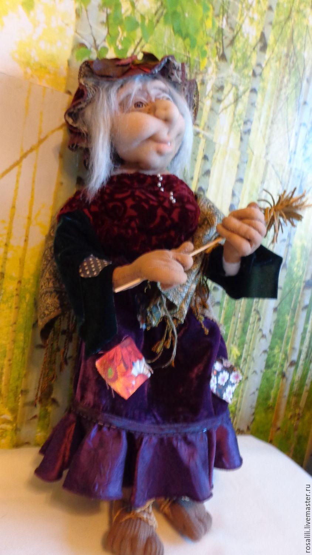 Сказочные персонажи ручной работы. Ярмарка Мастеров - ручная работа. Купить Интерьерная текстильная кукла БАБА-ЯГА. Handmade. Оберег