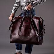 Сумки и аксессуары handmade. Livemaster - original item Travel bag WEEKENDER Bordeaux. Handmade.