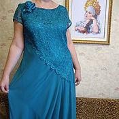 Одежда ручной работы. Ярмарка Мастеров - ручная работа платье вечернее в пол р,54-52. Handmade.