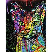Картины и панно ручной работы. Ярмарка Мастеров - ручная работа Кошка (картины по номерам). Handmade.