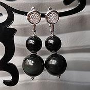 Украшения handmade. Livemaster - original item Rainbow Obsidian Earrings. Handmade.