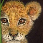 """Картины и панно ручной работы. Ярмарка Мастеров - ручная работа Картина """"Львёнок"""". Handmade."""