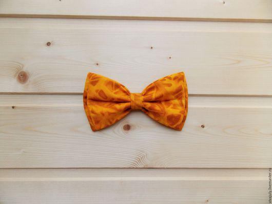 """Галстуки, бабочки ручной работы. Ярмарка Мастеров - ручная работа. Купить Галстук бабочка """"Эффект Батика"""" / горчичная бабочка галстук, охра. Handmade."""