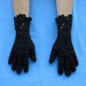 Перчатки ручной работы. Ярмарка Мастеров - ручная работа Вязаные перчатки из натурального козьего пуха,ручная работа крючком. Handmade.