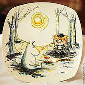Посуда ручной работы. Ярмарка Мастеров - ручная работа Тарелка Муми-тролли. Handmade.