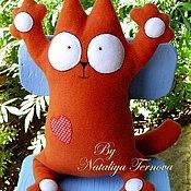 Куклы и игрушки ручной работы. Ярмарка Мастеров - ручная работа игрушка- подушка кот Саймона. Handmade.