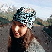 Аксессуары handmade. Livemaster - original item Leopard cap. Handmade.