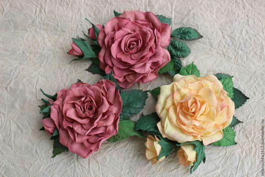 Цветы ручной работы. Ярмарка Мастеров - ручная работа. Купить Роза из фоамирана. Handmade. Желтый, подарок, розы ручной работы
