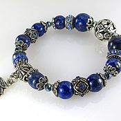 Украшения handmade. Livemaster - original item Б15 Bracelet with lapis-lazuli