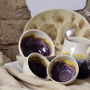 Посуда ручной работы. Ярмарка Мастеров - ручная работа Сервизы: Лето. Handmade.