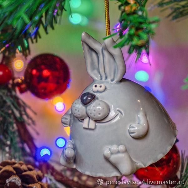 Колокольчик заяц. Новогодний колокольчик, Колокольчики, Москва,  Фото №1
