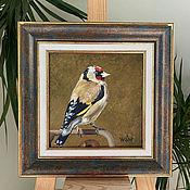 Картины и панно handmade. Livemaster - original item Goldfinch. Oil painting.. Handmade.