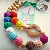 "Slingbus handmade. Livemaster - original item Слингобусы можжевеловые ""Краски"" с можжевеловым кольцом. Handmade."