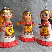 Куклы и пупсы ручной работы. Ярмарка Мастеров - ручная работа Колокол кукла чувашка. Handmade.