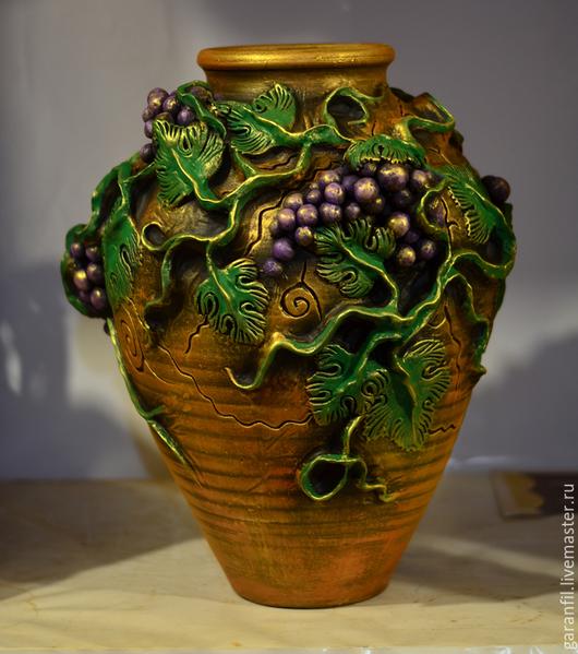 Вазы ручной работы. Ярмарка Мастеров - ручная работа. Купить ваза напольная декоративная. Handmade. Разноцветный, ваза садовая