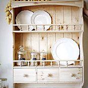 Для дома и интерьера handmade. Livemaster - original item Large wooden kitchen shelf with drawers. Handmade.