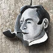 Украшения handmade. Livemaster - original item Brooch portrait black and white