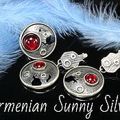 Украшения handmade. Livemaster - original item Farid jewelry set with corundum in 925 silver (VIDEO). Handmade.