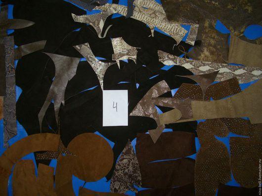 Аппликации, вставки, отделка ручной работы. Ярмарка Мастеров - ручная работа. Купить набор натуральной цветной замши  для творчества№4. Handmade.