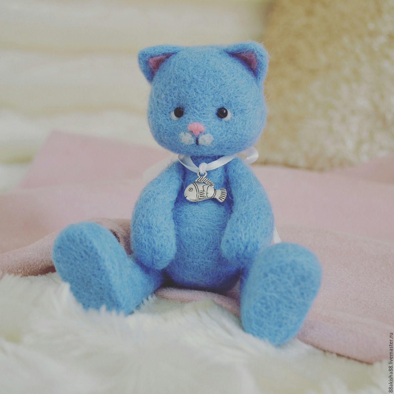 Игрушка из шерсти Котик, Войлочная игрушка, Муром, Фото №1