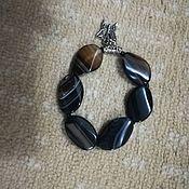 Браслет из бусин ручной работы. Ярмарка Мастеров - ручная работа Браслет из бусин: браслет с агата. Handmade.